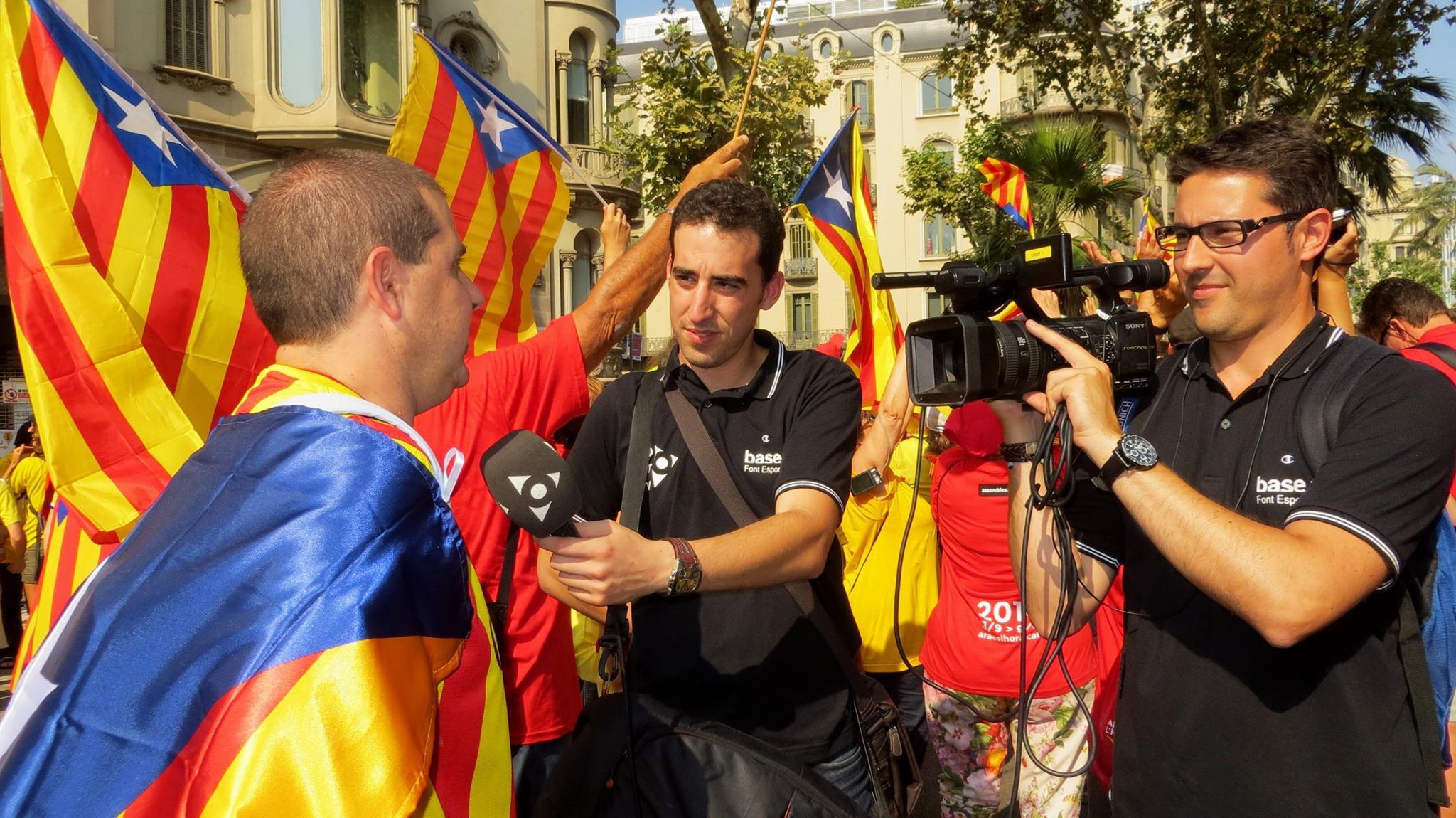 A la 'V' de Barcelona (Setembre 2014)