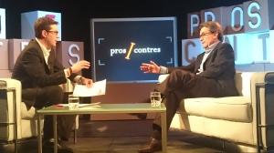 Un moment de l'entrevista al president Artur Mas