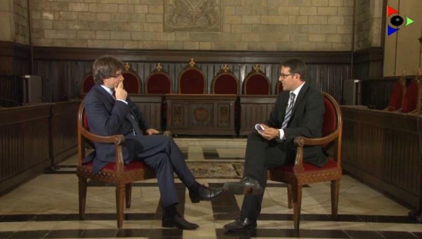 Entrevista a Carles Puigdemont, alcalde de Girona i president de l'AMI (Setembre 2015)